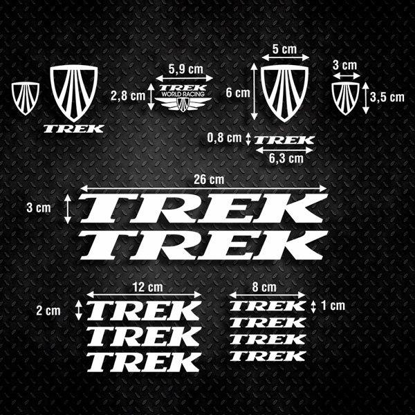Autocollants: Kit Vélo VTT Trek 2