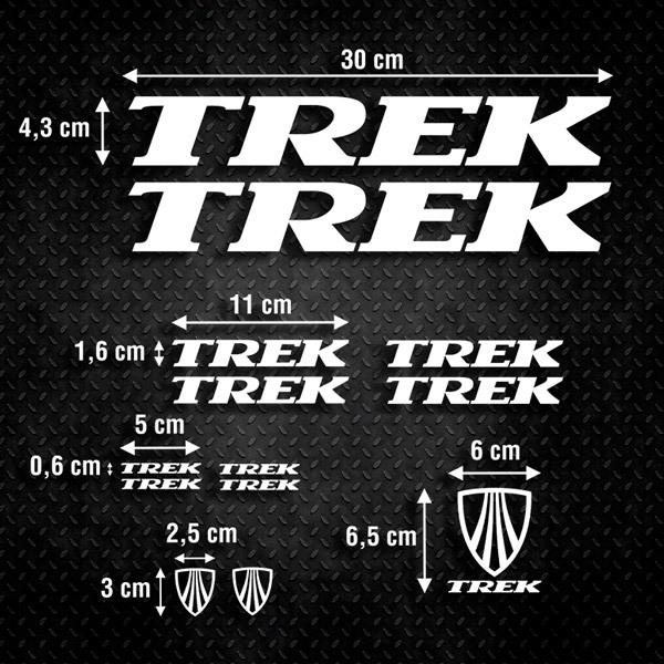 Autocollants: Kit Vélo VTT Trek 4