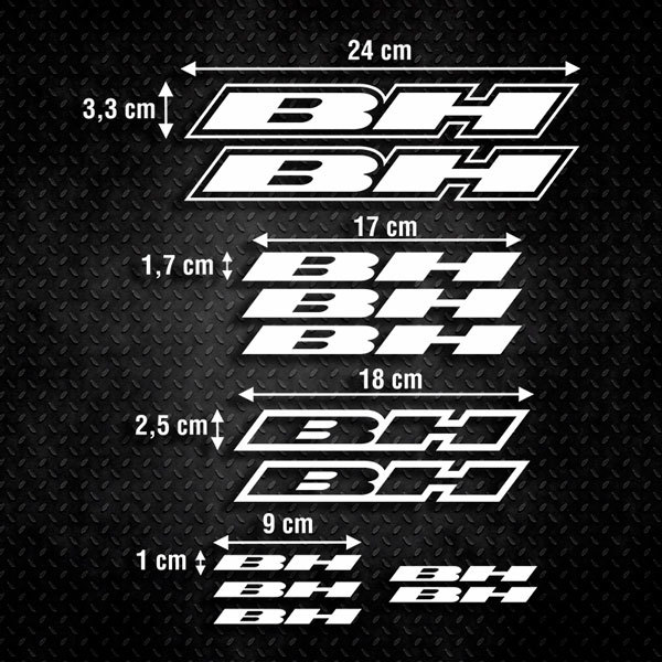 Autocollants: Kit Vélo VTT BH 1