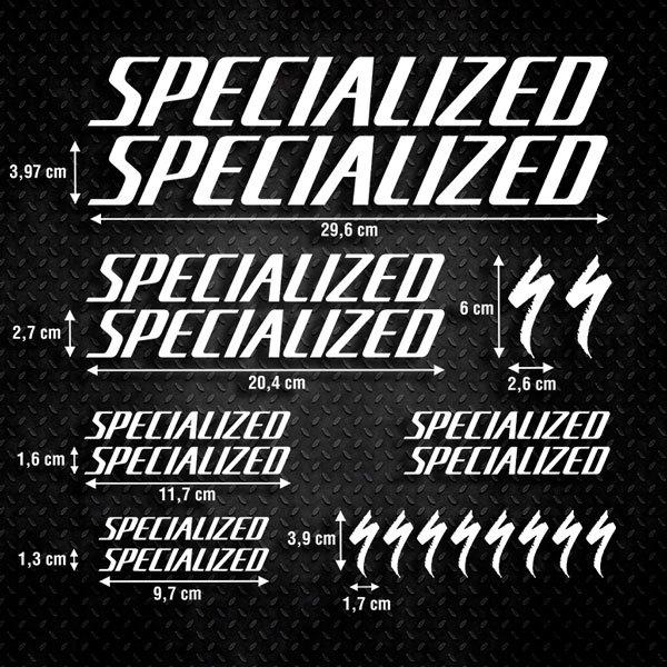 Autocollants: Kit Vélo VTT Specialized 1