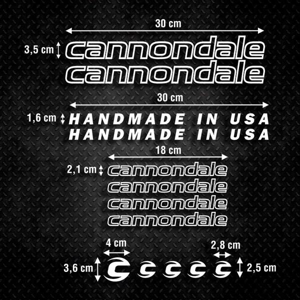 Autocollants: Kit Vélo VTT Cannondale 2