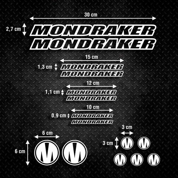 Autocollants: Kit Vélo VTT Mondraker 1