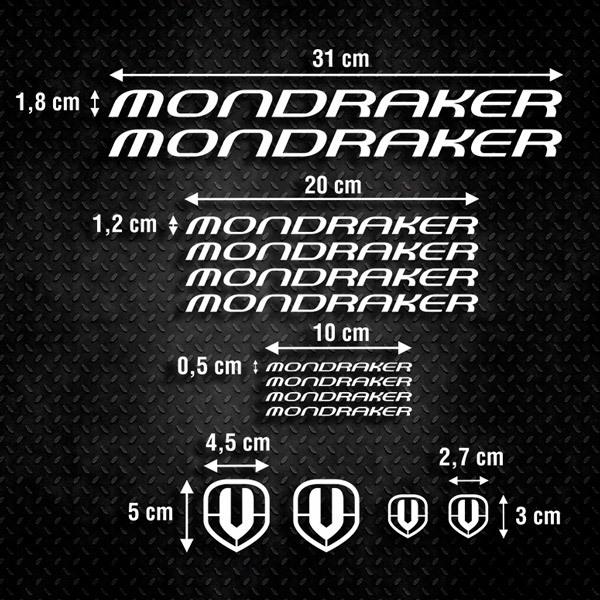 Autocollants: Kit Vélo VTT Mondraker 2