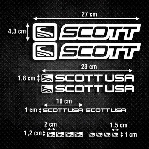 Autocollants: Kit Vélo VTT Scott 2