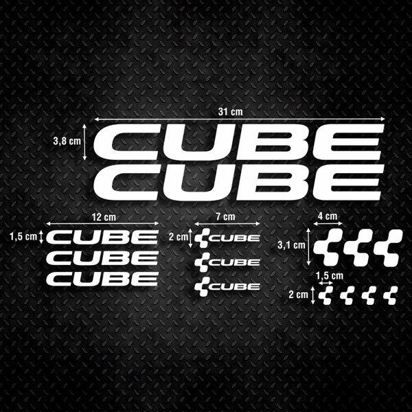Autocollants: Kit Vélo VTT Cube 1