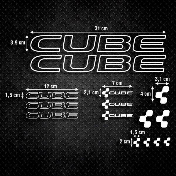 Autocollants: Kit Vélo VTT Cube 2