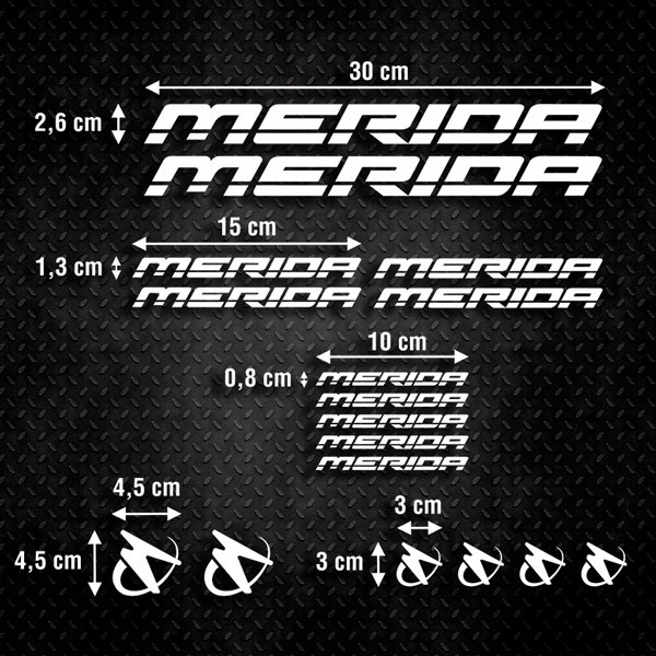 Autocollants: Kit Vélo VTT Merida 1