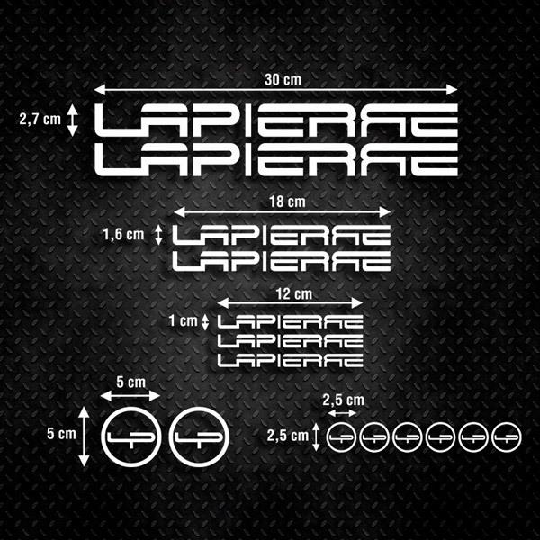 Autocollants: Kit Fahrrad Mountainbike MTB Lapierre 1