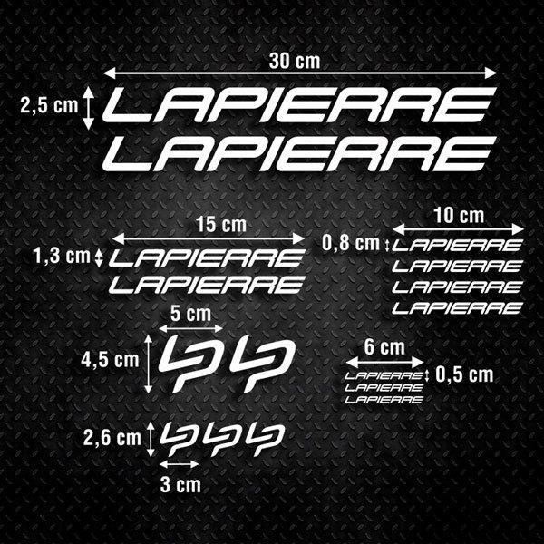Autocollants: Kit Fahrrad Mountainbike MTB Lapierre 2