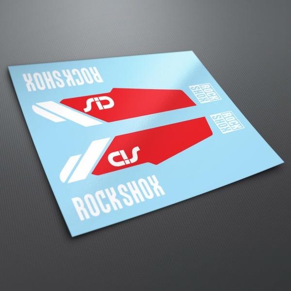 Autocollants: Stickers Rock Shox Sid VTT Velo fourche