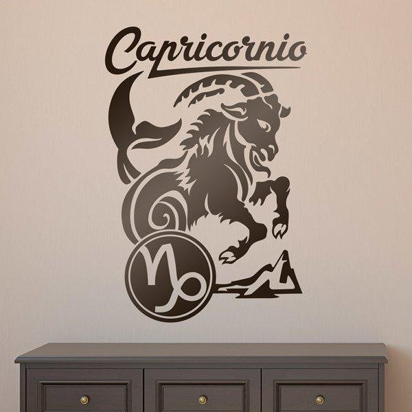 Stickers muraux: zodiaco 32 (Capricornio)