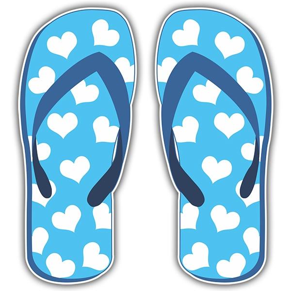 Stickers muraux: Pantoufles