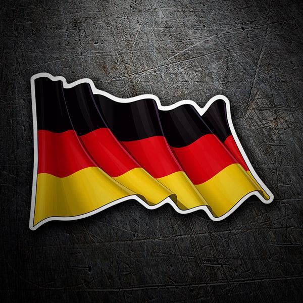 Autocollants: Drapeau allemand en agitant