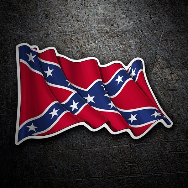 Autocollants: Drapeau Rebelle Confédéré