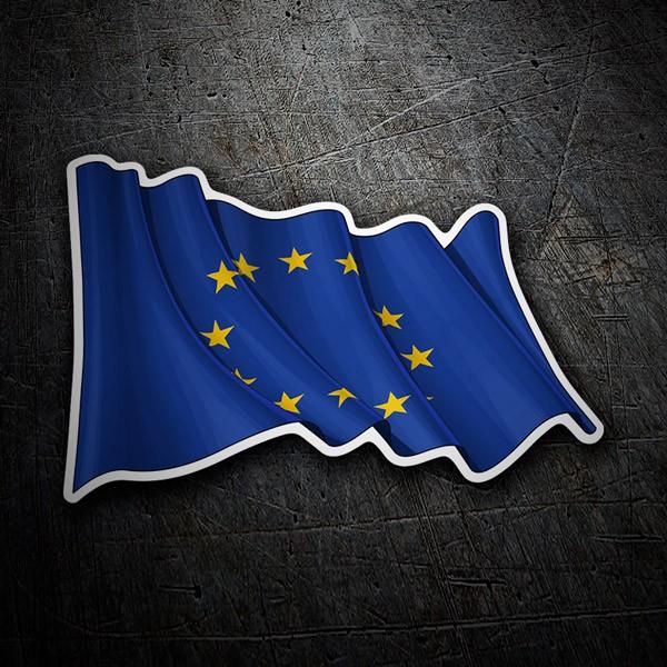 Autocollants: European Union Flag agitant