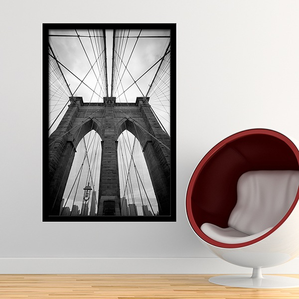 Stickers muraux: Intérieur du pont de Brooklyn