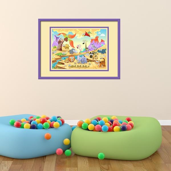 Stickers pour enfants: Animaux de la rivière