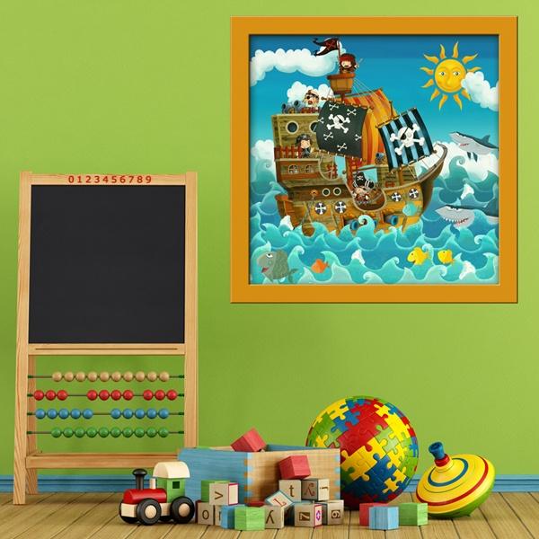 Stickers pour enfants: Pirate Ship