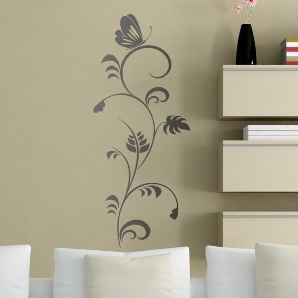 Stickers muraux: Papillon sur une fleur