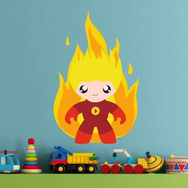Stickers pour enfants: Fire Man