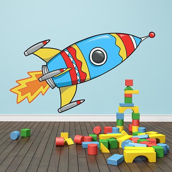 Stickers pour enfants: Fusée 2