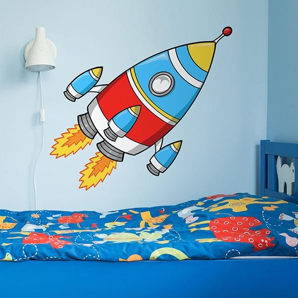 Stickers pour enfants: Fusée 3