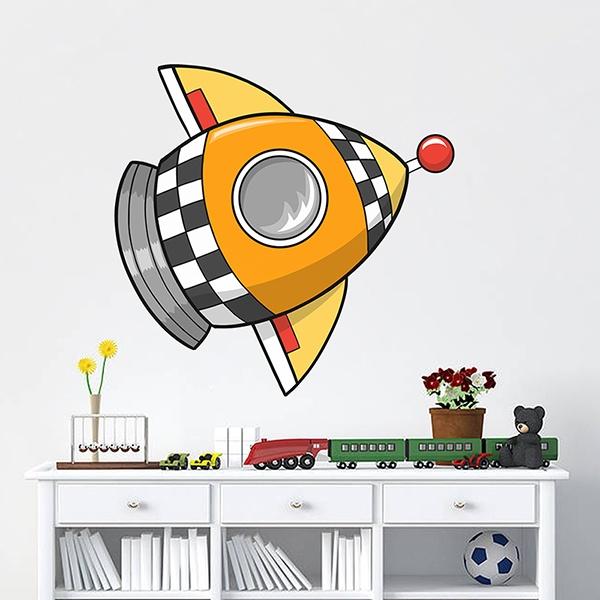 Stickers pour enfants: Fusée 4