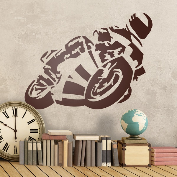 Stickers muraux: moto5
