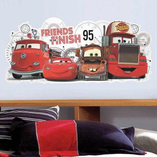 Stickers pour enfants: Cars 2 Amis à la Finition