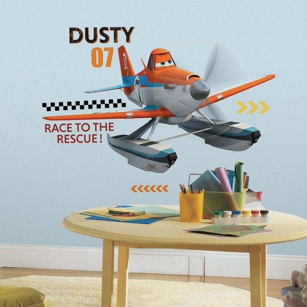 Stickers pour enfants: Géant Dusty Sticker Avions Les Pompiers du ciel