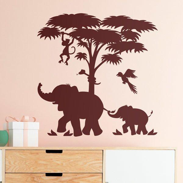Stickers pour enfants: Les éléphants et Scène d