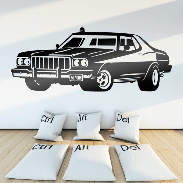 Stickers muraux: Ford Torino Starsky et Hutch