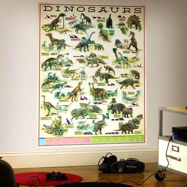 Stickers muraux: Dinosaurs