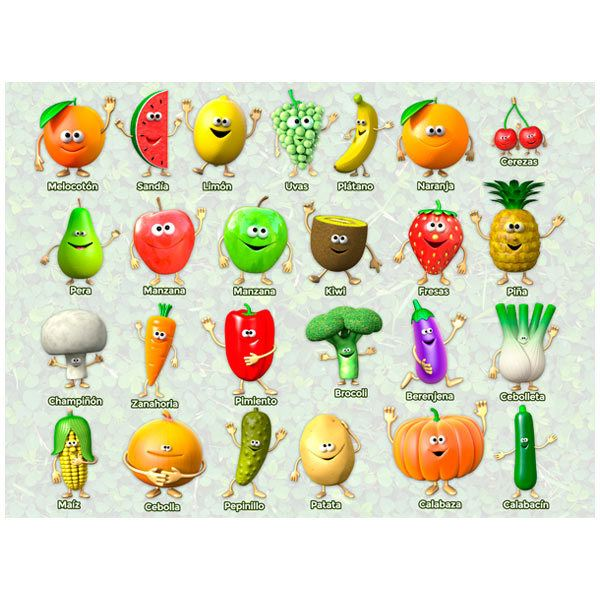 Stickers muraux: Fruits et légumes