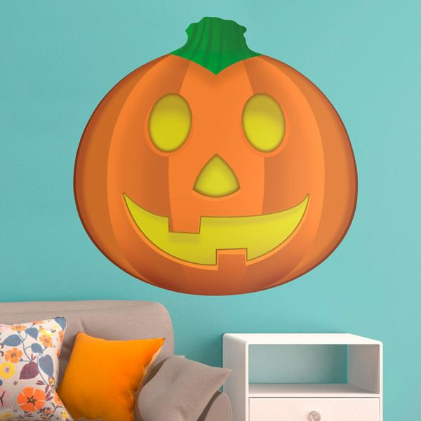 Stickers muraux: Citrouille d Halloween