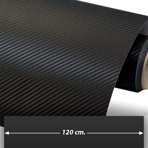 Autocollants: Film de fibre de carbone vinyle 120cm