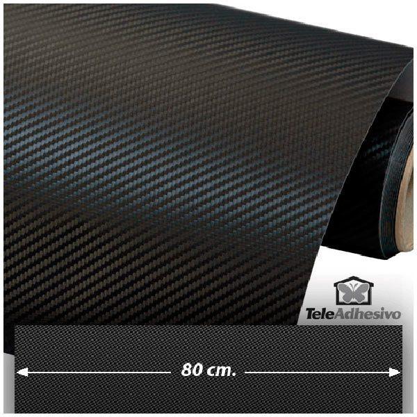 Autocollants: Film de fibre de carbone vinyle 80cm