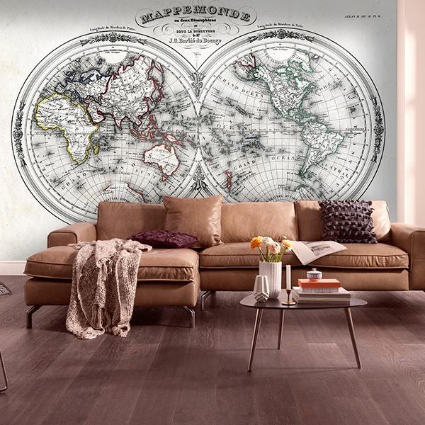 Papier peint vinyle: World Map 3