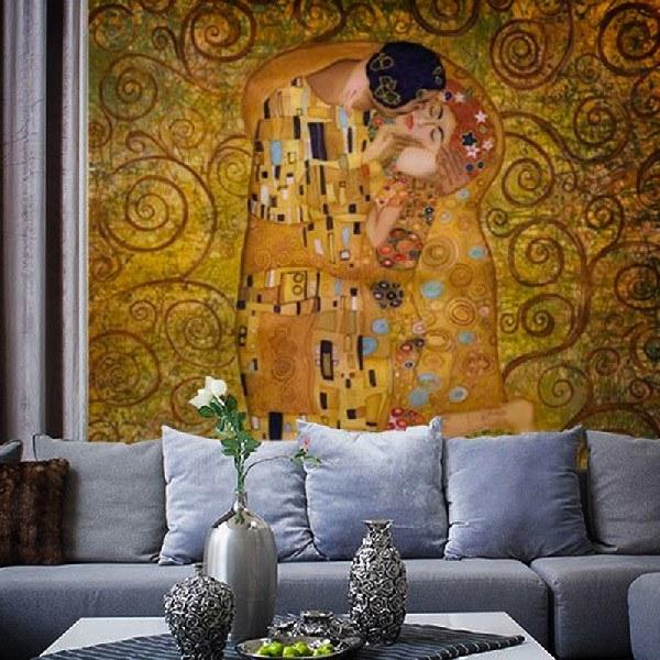 Papier peint vinyle: Klimt kiss