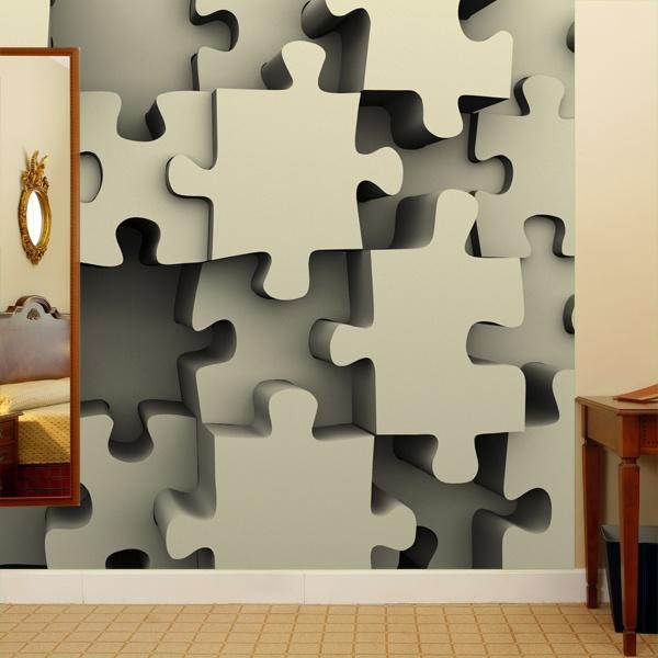 Papier peint vinyle: Puzzle