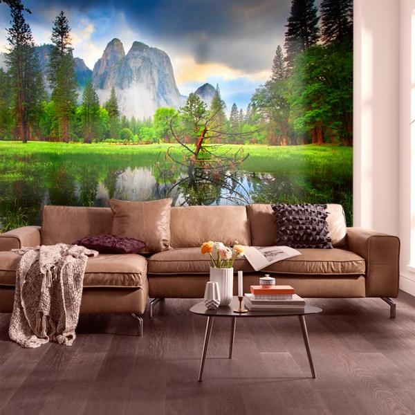 Papier peint vinyle: Lac dans les montagnes II