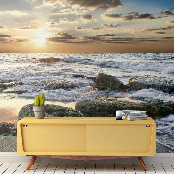 Papier peint vinyle: Waves