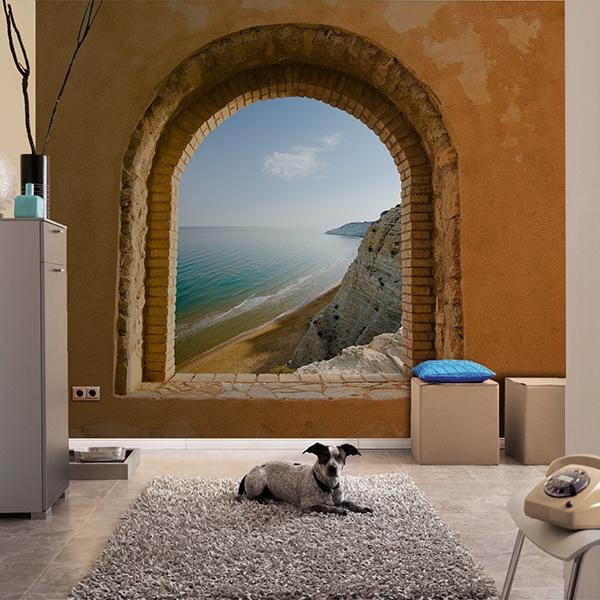 Papier peint vinyle: Fenêtre à Mer