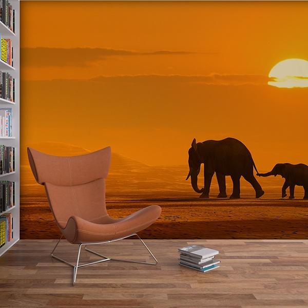 Papier peint vinyle: Eléphants
