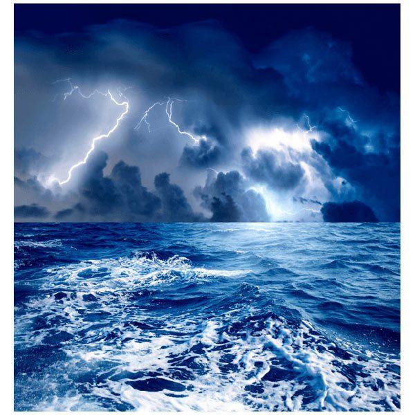 Papier peint vinyle: Tempête en mer