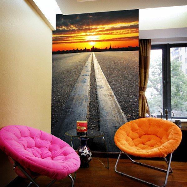 Papier peint vinyle: Highway to sunset
