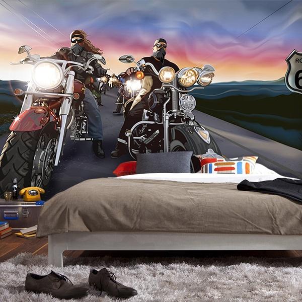 Papier peint vinyle: Comic bikers