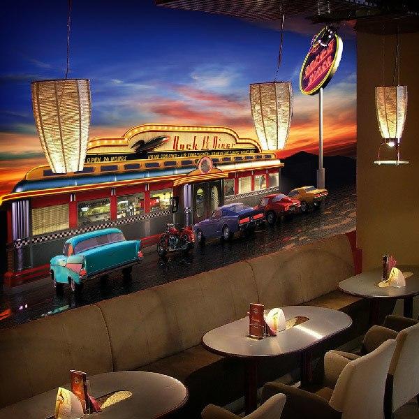 Papier peint vinyle: Retro American Diner