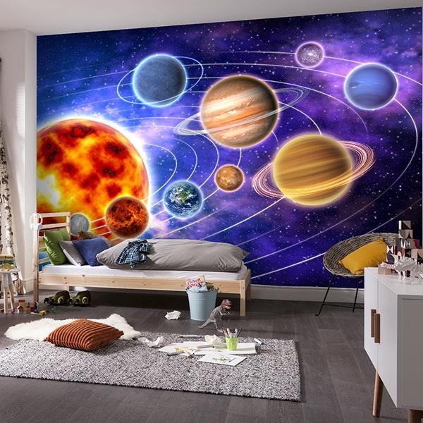 Papier peint vinyle: système solaire