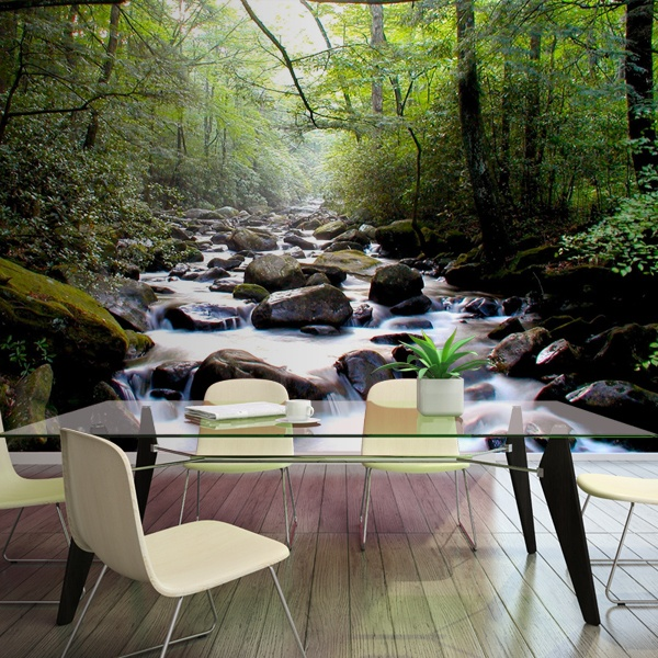 Papier peint vinyle: Río en el bosque